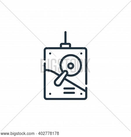 hard drive icon isolated on white background. hard drive icon thin line outline linear hard drive sy