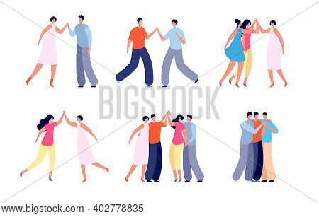 People High Five. Social Communication, Friends Celebrating Or Greetings Meeting. Fun Friendship, Is