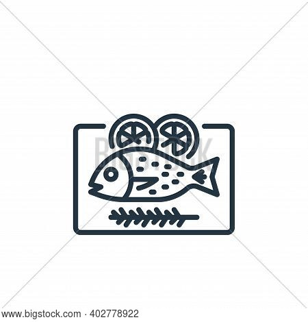 fish icon isolated on white background. fish icon thin line outline linear fish symbol for logo, web