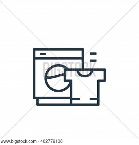 washer icon isolated on white background. washer icon thin line outline linear washer symbol for log