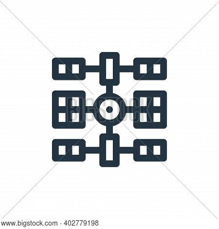 space station icon isolated on white background. space station icon thin line outline linear space s