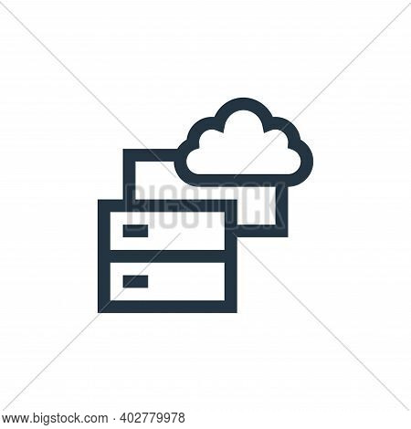 data storage icon isolated on white background. data storage icon thin line outline linear data stor