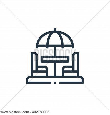 umbrella icon isolated on white background. umbrella icon thin line outline linear umbrella symbol f