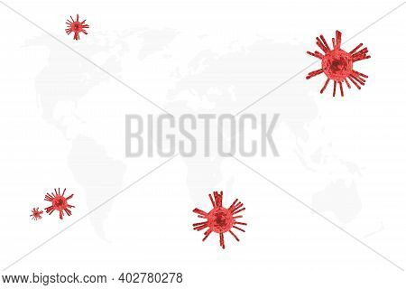 3d Virus. Vector Illustration Graphic Corona Virus Outbreak Is Spreading Rapidly Throughout The Worl