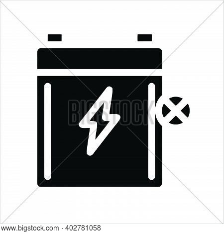 Fast Battery Charger Icon. Fast Battery Charger Vector Icon Outline For Web Design Isolated On White