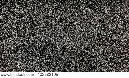 Bunch Of Black Pet-g Plastic Debris On The Floor Of A Factory