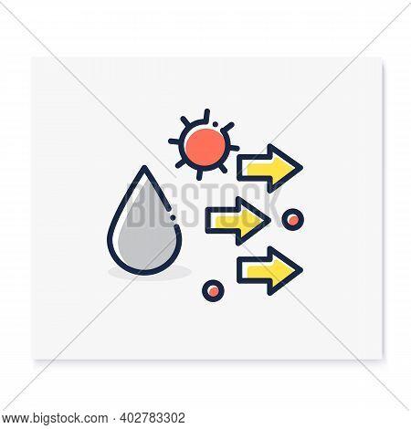 Droplet Spread Color Icon. Disease Spreading Concept. Covid19, Virus Disease, Influenza Or Flu Trans