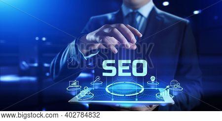 Seo Search Engine Optimisation Internet Digital Marketing Business Technology Concept.