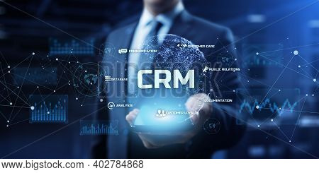 Crm - Customer Relationship Management System. Business And Marketing Process Automation Service.