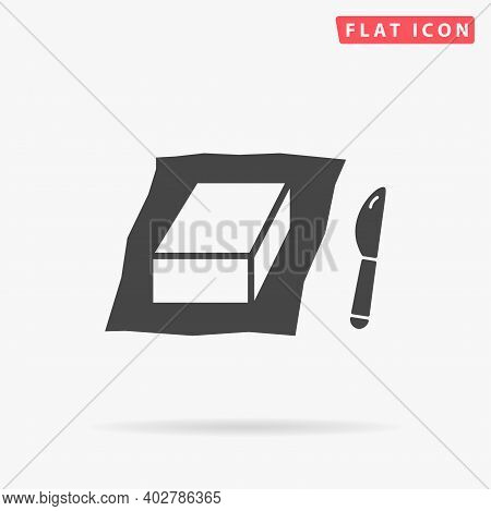 Butter Flat Vector Icon. Hand Drawn Style Design Illustrations.