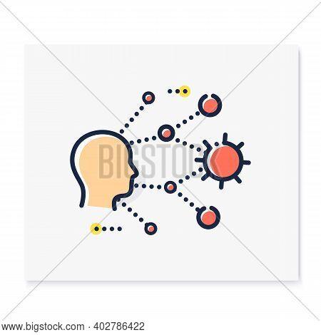 Super Spreading Color Icon. Disease Spreading Concept. Covid19, Virus Disease, Influenza Transmissio