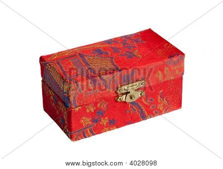 The Chinese Casket Isolated On White