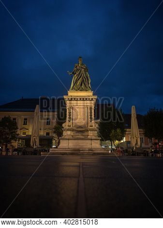 Historic Maria Theresia Monument Statue Sculpture Memorial In Klagenfurt Am Worthersee Carinthia Aus