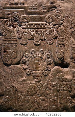Ancient Mayan Stone Carving