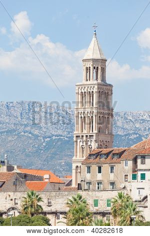 bell tower of St. Duje in Split poster
