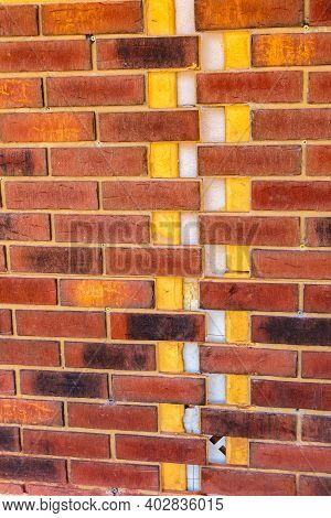 Clinker Brick Of Brown Color. Clinker Thermal Panels For Finishing The Facade Of The House. Tiles Fo