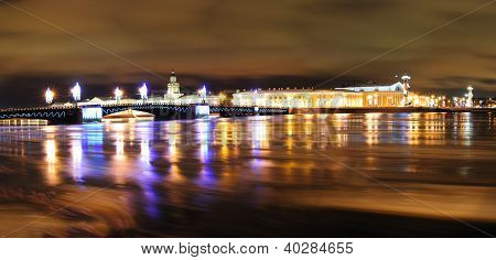 St. Petersburg Christmas Panorama