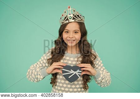Happy Birthday. Birthday Princess. Lovely Present. Gifts Shop. Kid Crown Symbol Glory. Happy Childre
