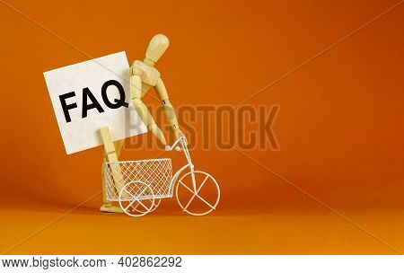 Faq, Frequently Asked Questions Symbol. White Paper. Words 'faq, Frequently Asked Questions'. Miniat