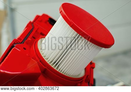 The Filter Of The New Industrial Wet And Dry Vacuum Cleaner With A Professional Hepa Filter
