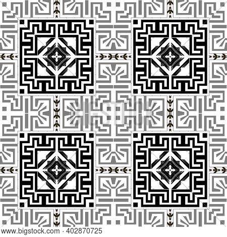 Geometric Greek Seamless Pattern. Modern Vector Background. Repeat Tribal Ethnic Backdrop. Greek Orn