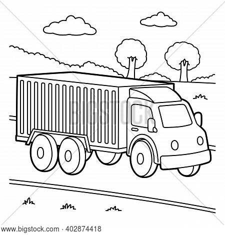 Cute And Funny Coloring Page Of A Truck. Provides Hours Of Coloring Fun For Children. To Color This