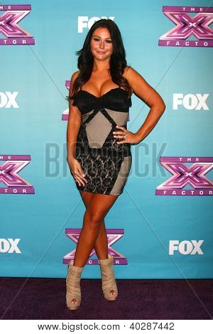 LOS ANGELES - DEC 19:  Jenni 'Jwoww' Farley at the 'X Factor' Season Finale performances  show taping at CBS Television City on December 19, 2012 in Los Angeles, CA