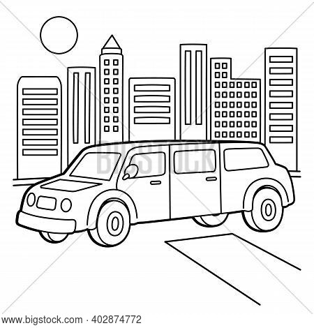 Cute And Funny Coloring Page Of A Stretch Limo. Provides Hours Of Coloring Fun For Children. To Colo