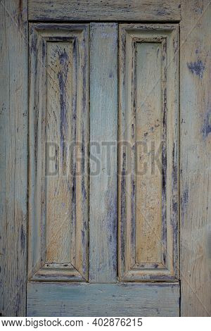 Weathered Yellow Door Texture Vertical Background Image