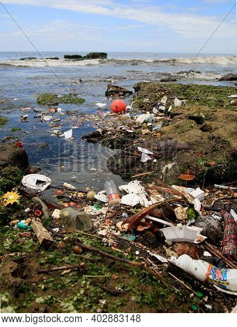 Garbage At Sea In Salvador