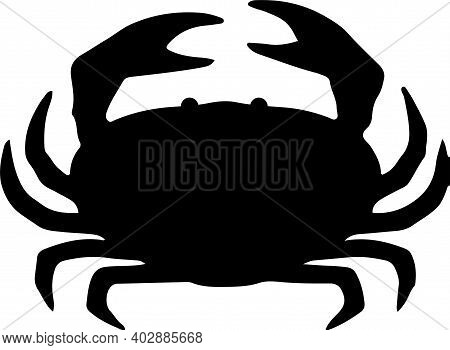 Crab Icon Isolated On White Background , Seafood, Shell, Shellfish