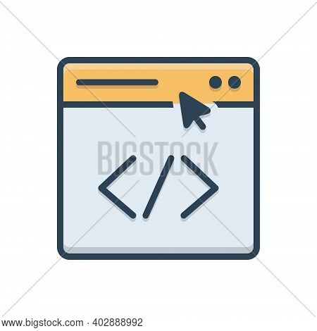 Color Illustration Icon For Link Submission Building Page Submit