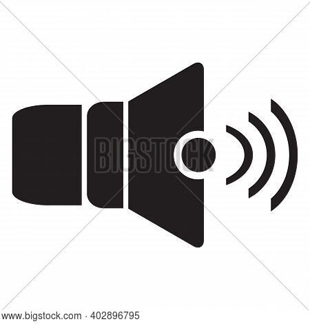 Loud Speaker Icon Isolated On White Background From Music Collection. Loud Speaker Icon Trendy And M