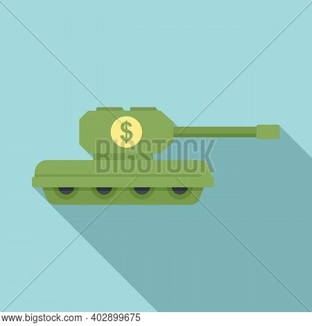 Trade War Usa Tank Icon. Flat Illustration Of Trade War Usa Tank Vector Icon For Web Design