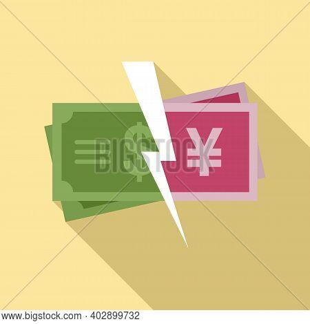 Trade War Finance Icon. Flat Illustration Of Trade War Finance Vector Icon For Web Design