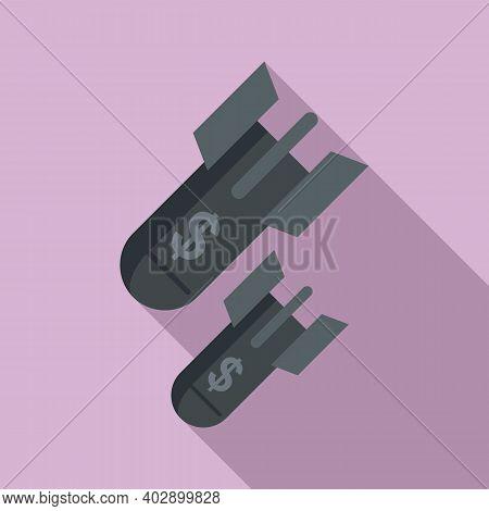 Rockets Trade War Icon. Flat Illustration Of Rockets Trade War Vector Icon For Web Design