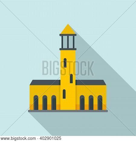 Swedish Old Building Icon. Flat Illustration Of Swedish Old Building Vector Icon For Web Design