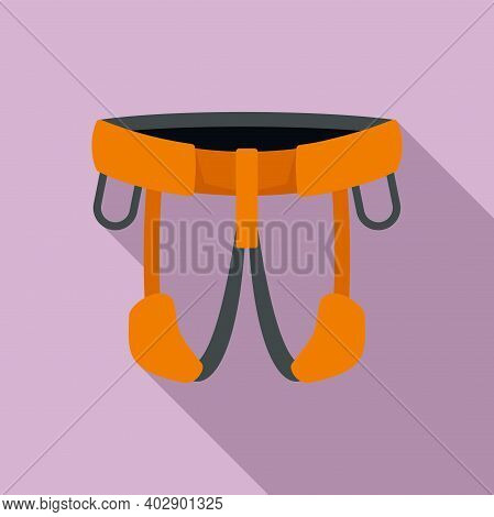 Industrial Climber Belt Icon. Flat Illustration Of Industrial Climber Belt Vector Icon For Web Desig