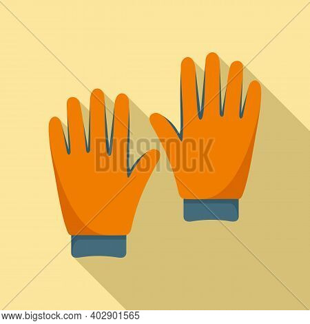 Industrial Climber Gloves Icon. Flat Illustration Of Industrial Climber Gloves Vector Icon For Web D