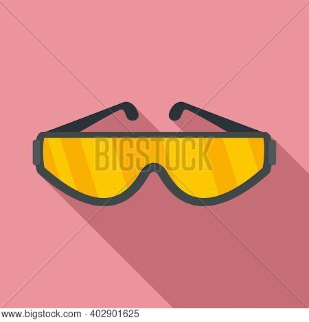 Industrial Climber Protection Glasses Icon. Flat Illustration Of Industrial Climber Protection Glass