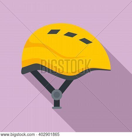 Industrial Climber Modern Helmet Icon. Flat Illustration Of Industrial Climber Modern Helmet Vector