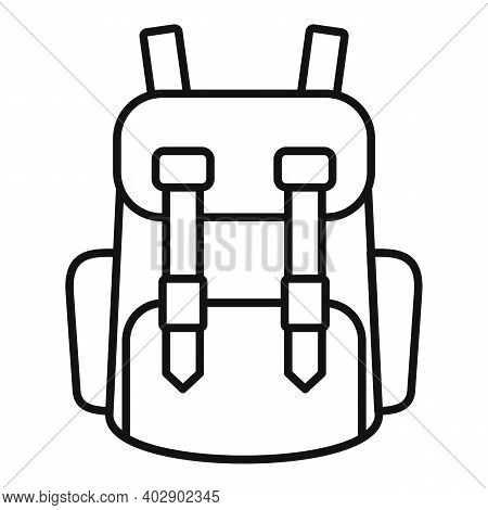 Industrial Climber Backpack Icon. Outline Industrial Climber Backpack Vector Icon For Web Design Iso