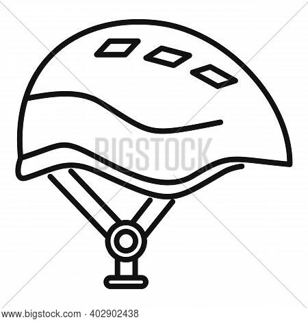 Industrial Climber Modern Helmet Icon. Outline Industrial Climber Modern Helmet Vector Icon For Web