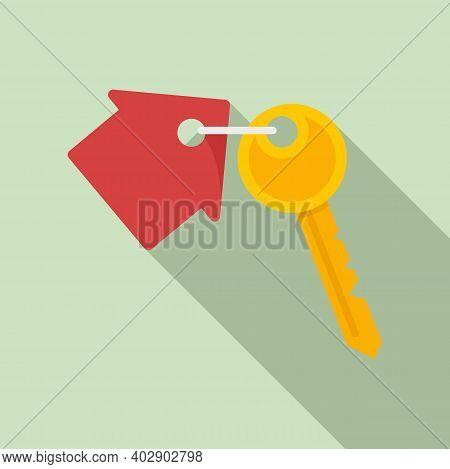Realtor House Key Icon. Flat Illustration Of Realtor House Key Vector Icon For Web Design