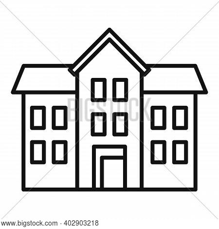 Realtor House Icon. Outline Realtor House Vector Icon For Web Design Isolated On White Background