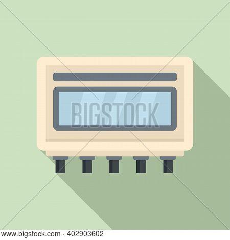 Electric Utilities Icon. Flat Illustration Of Electric Utilities Vector Icon For Web Design