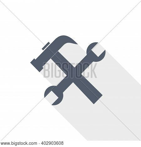 Tools, Service Vector Icon, Flat Design Illustration In Eps 10
