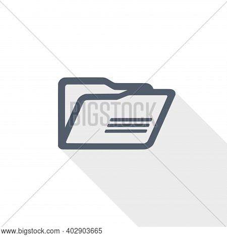 Folder Vector Icon, Flat Design Illustration In Eps 10