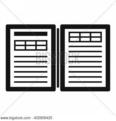 Electronic Book Estimator Icon. Simple Illustration Of Electronic Book Estimator Vector Icon For Web