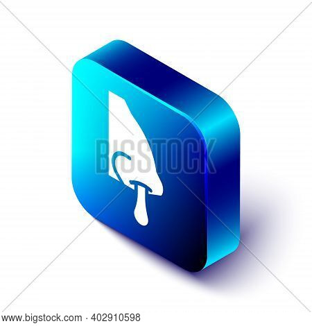 Isometric Runny Nose Icon Isolated On White Background. Rhinitis Symptoms, Treatment. Nose And Sneez